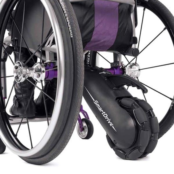 Max Mobility SmartDrive MX2 Wheelchair Power Assist rear view of unit