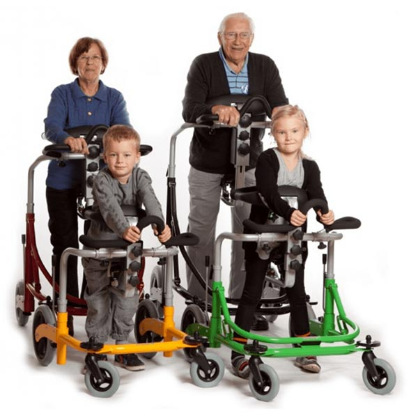adult and pediatric users in the Meywalk 4 gait trainer