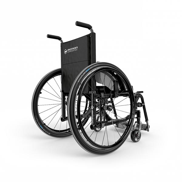 Motion Composites Helio C2 Folding Manual Wheelchair rear view