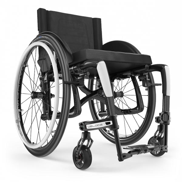 Motion Composites Veloce Lightweight Folding Wheelchair front view