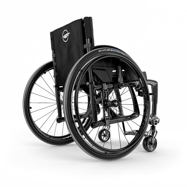 Motion Composites Veloce Lightweight Folding Wheelchair rear view