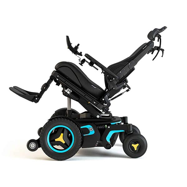 Permobil F3 Corpus Front-Wheel Drive Powerchair tilted backward
