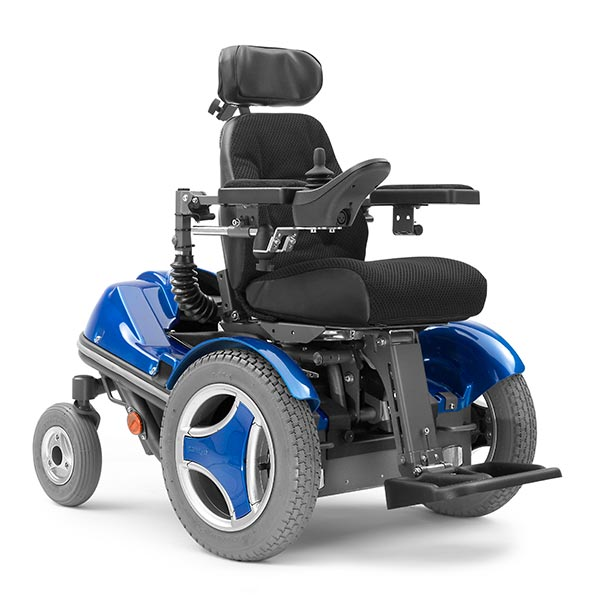 Permobil Koala Miniflex pediatric power wheelchair front view