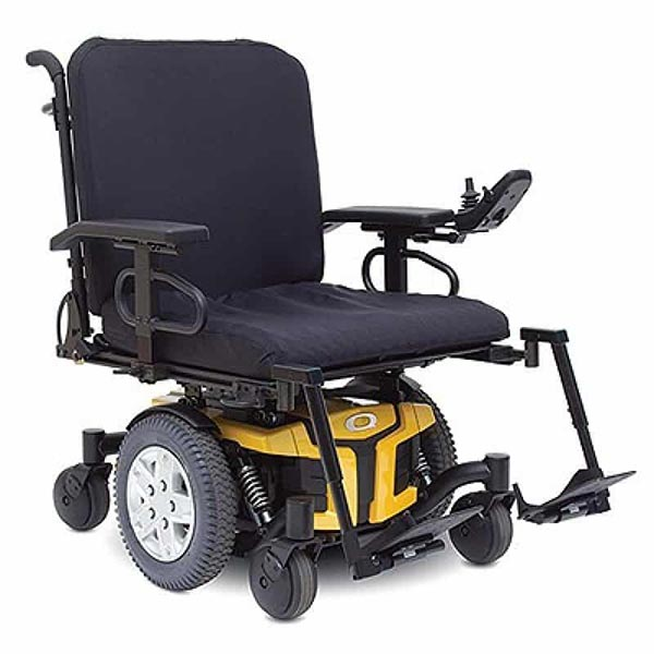 Quantum Q6 Edge HD MWD Powerchair with seating and positioning attached