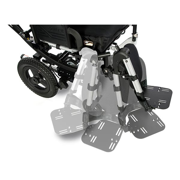 Sunrise Medical Quickie Iris Tilt-in-Space Manual Wheelchair with footrests in motion