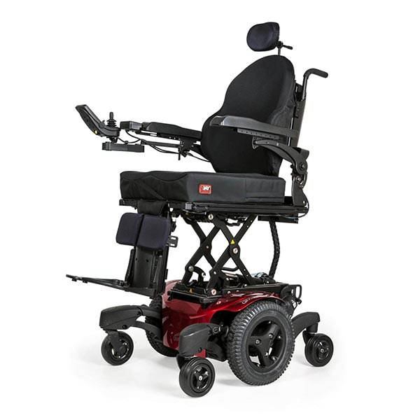 Sunrise Medical Quickie QM-7 Electric Power Wheelchair with extension enabled