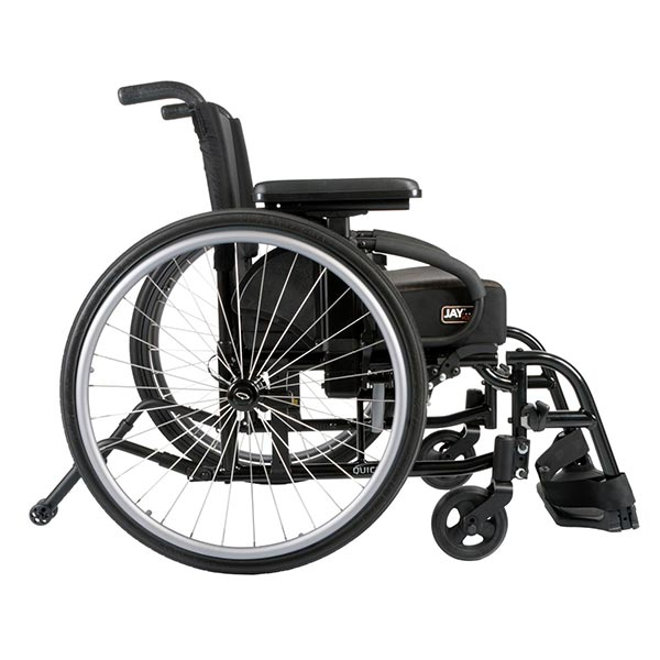 Sunrise Medical Quickie QXi Folding Manual Wheelchair side view