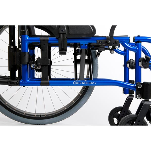 Sunrise Medical Quickie QXi Folding Manual Wheelchair up close view of frame