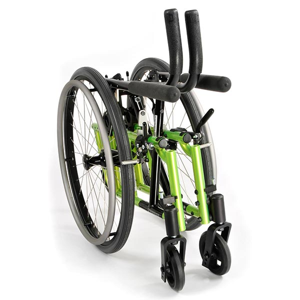Sunrise Medical Zippie 2 Pediatric Folding Manual Wheelchair folded view
