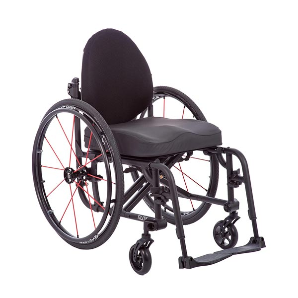 TiLite Aero X Folding Manual Wheelchair front view