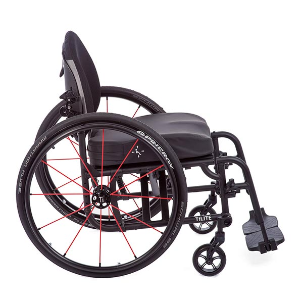 TiLite Aero X Folding Manual Wheelchair side view