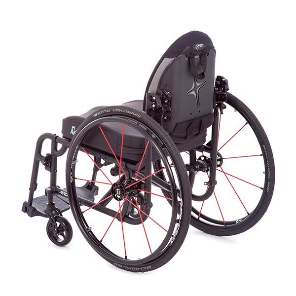 TiLite Aero X Folding Manual Wheelchair back view