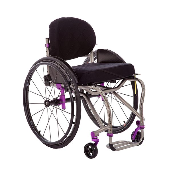 TiLite TRA Lightweight Titanium Rigid Wheelchair front view