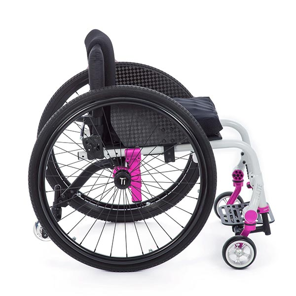 TiLite TWIST Pediatric Rigid Manual Wheelchair side view