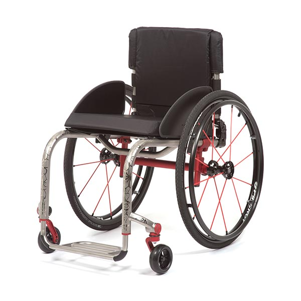 TiLite ZRA Lightweight RIgid Manual Wheelchair front view